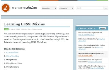 http://www.developerdrive.com/2012/05/learning-less-mixins/