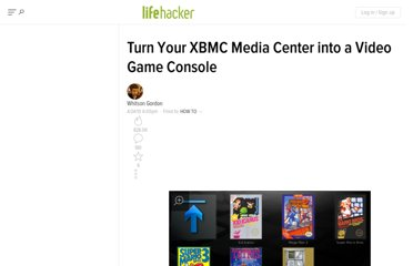 http://lifehacker.com/5523672/turn-your-xbmc-media-center-into-a-video-game-console