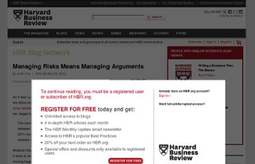 http://blogs.hbr.org/cs/2012/05/managing_risks_means_managing.html