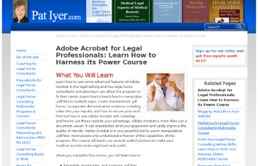 http://patiyer.com/webinars/courses/adobe-acrobat-for-legal-professionals-learn-how-to-harness-its-power-course/