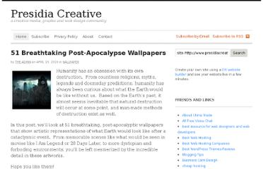 http://www.presidiacreative.com/51-breathtaking-post-apocalypse-wallpapers/