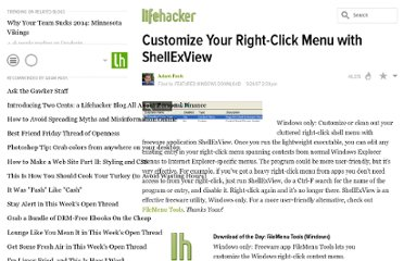http://lifehacker.com/302982/customize-your-right+click-menu-with-shellexview