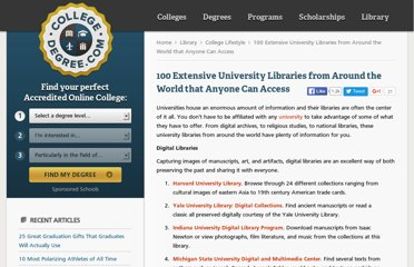 http://www.collegedegree.com/library/college-life/100_extensive_university_libraries_from_around_the_world