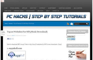 http://hackspc.com/top-20-websites-for-mp3-music-downloads/