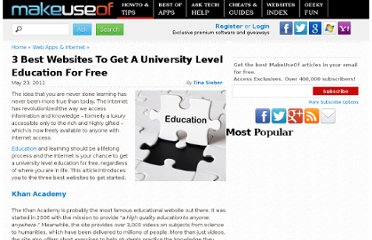 http://www.makeuseof.com/tag/3-best-websites-to-get-a-university-level-education-for-free/