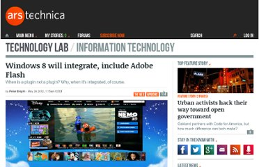 http://arstechnica.com/information-technology/2012/05/windows-8-will-integrate-include-adobe-flash/