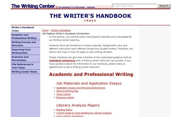 http://writing.wisc.edu/Handbook/index.html
