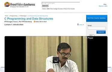 http://freevideolectures.com/Course/2519/C-Programming-and-Data-Structures#