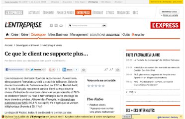 http://lentreprise.lexpress.fr/marketing-et-vente/ce-que-le-client-ne-supporte-plus_32831.html?p=2