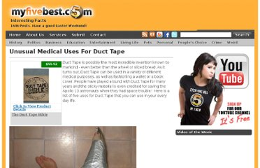 http://myfivebest.com/unusual-medical-uses-for-duct-tape/