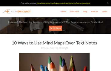 http://www.asianefficiency.com/technology/10-ways-mind-maps-over-text-notes/