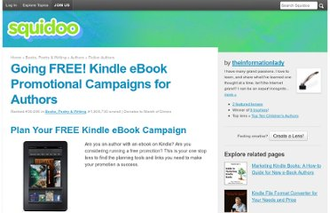 http://www.squidoo.com/going-free-kindle-ebook-promotional-campaigns-for-authors