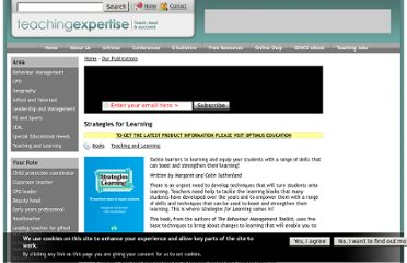 http://www.teachingexpertise.com/publications/strategies-for-learning-1051