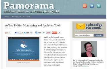http://www.pamorama.net/2010/04/26/20-top-twitter-monitoring-and-analytics-tools/