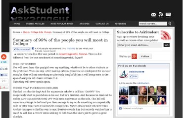 http://www.askstudent.com/funny/summary-of-99-of-the-people-you-will-meet-in-college/
