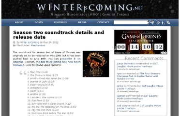 http://winteriscoming.net/2012/05/season-two-soundtrack-details-and-release-date/