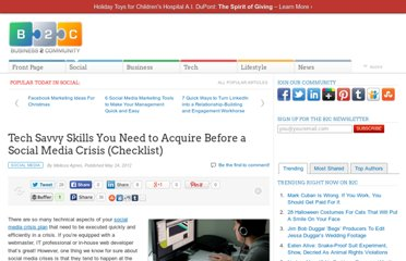 http://www.business2community.com/social-media/tech-savvy-skills-you-need-to-acquire-before-a-social-media-crisis-checklist-0180687