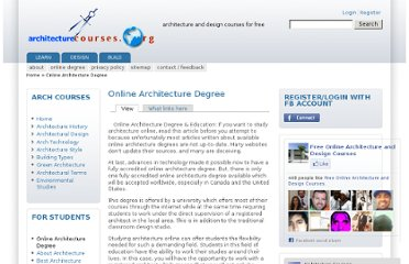http://www.architecturecourses.org/online-architecture-degree