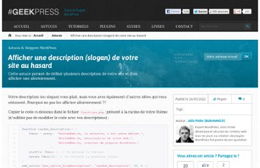 http://www.geekpress.fr/wordpress/astuce/description-site-aleatoire-1205/#