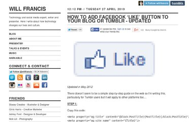 http://willfrancis.com/post/552270790/how-to-add-facebook-like-to-tumblr