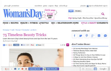 http://www.womansday.com/style-beauty/beauty-tips-products/75-beauty-tricks#slide-1