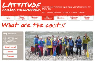 http://www.lattitude.org.nz/why-volunteer/what-are-the-costs