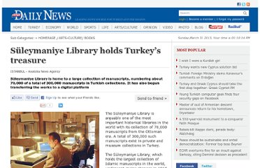 http://www.hurriyetdailynews.com/suleymaniye-library-holds-turkeys-treasure.aspx?pageID=238&nID=21441&NewsCatID=386
