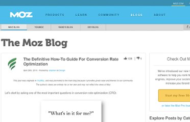 http://www.seomoz.org/blog/the-definitive-howto-for-conversion-rate-optimization