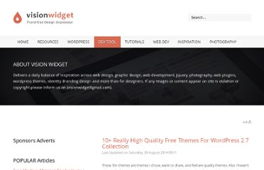 http://visionwidget.com/high-quality-free-wordpress27-themes.html