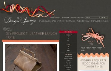 http://www.designsponge.com/2012/02/diy-project-leather-lunch-tote.html