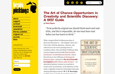 http://www.brainpickings.org/index.php/2012/05/25/the-art-of-scientific-investigation-1/