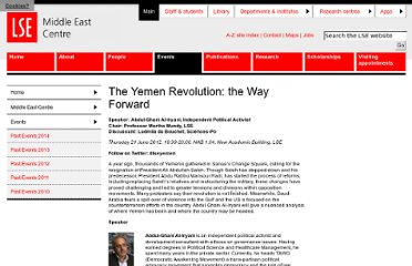http://www2.lse.ac.uk/middleEastCentre/Events/events2012/The-Yemen-Revolution-the-Way-Forward.aspx