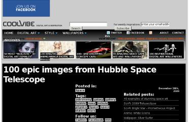 http://coolvibe.com/2009/100-epic-images-from-hubble-space-telescope/