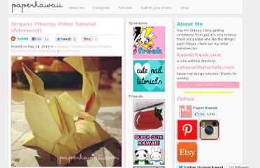 http://www.paperkawaii.com/2012/05/24/origami-pikachu-video-tutorial-advanced/#