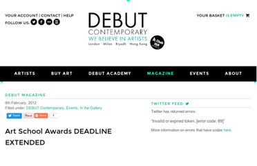 http://www.debutcontemporary.com/art-school-awards/