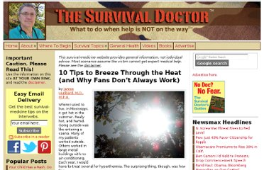 http://www.thesurvivaldoctor.com/2012/05/22/10-tips-to-breeze-through-the-heat-and-why-fans-dont-always-work/