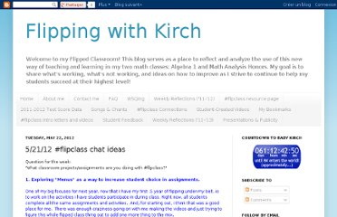 http://flippingwithkirch.blogspot.com/2012/05/52112-flipclass-chat-ideas.html