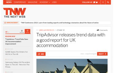 http://thenextweb.com/uk/2012/05/25/tripadvisor-releases-trend-data-with-a-good-report-for-uk-accommodation/