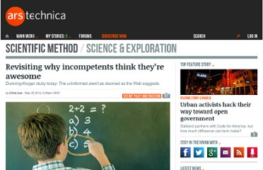 http://arstechnica.com/science/2012/05/revisiting-why-incompetents-think-theyre-awesome/