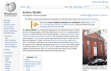 http://en.wikipedia.org/wiki/Actors_Studio