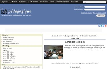 http://www.cafepedagogique.net/communautes/Forum2012/default.aspx