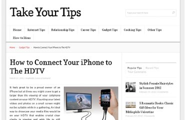 http://takeyourtips.com/how-to-connect-your-iphone-to-the-hdtv/
