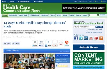 http://www.healthcarecommunication.com/Main/Articles/14_ways_social_media_may_change_doctors_visits_8813.aspx