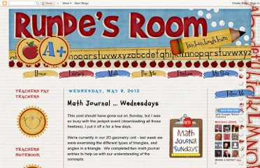 http://www.rundesroom.com/2012/05/math-journal-wednesdays.html