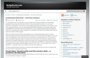 http://helpdeskcom.wordpress.com/2012/05/25/socializing-the-help-desk-the-party-continues/