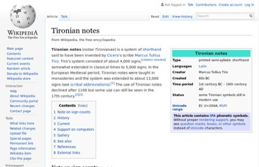 http://en.wikipedia.org/wiki/Tironian_notes