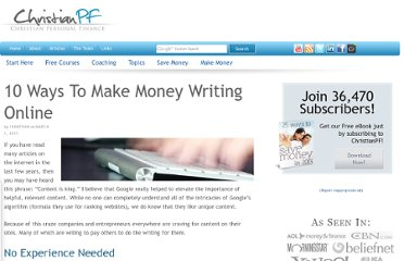 http://christianpf.com/ways-to-make-money-writing-articles-online/