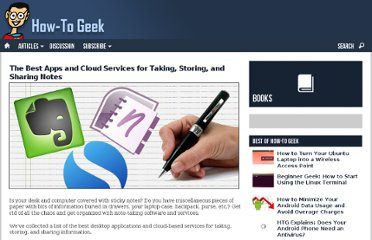 http://www.howtogeek.com/114794/the-best-apps-and-cloud-services-for-taking-storing-and-sharing-notes/