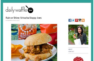 http://dailywaffle.com/2012/05/26/rain-or-shine-sriracha-sloppy-joes/