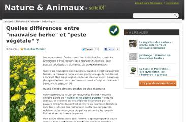 http://suite101.fr/article/quelles-differences-entre-mauvaise-herbe-et-peste-vegetale--a27901